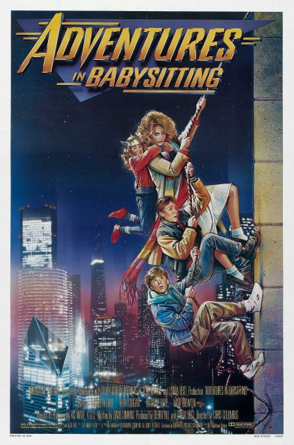 Affiche Poster nuit folie Adventures Babysitting disney touchstone