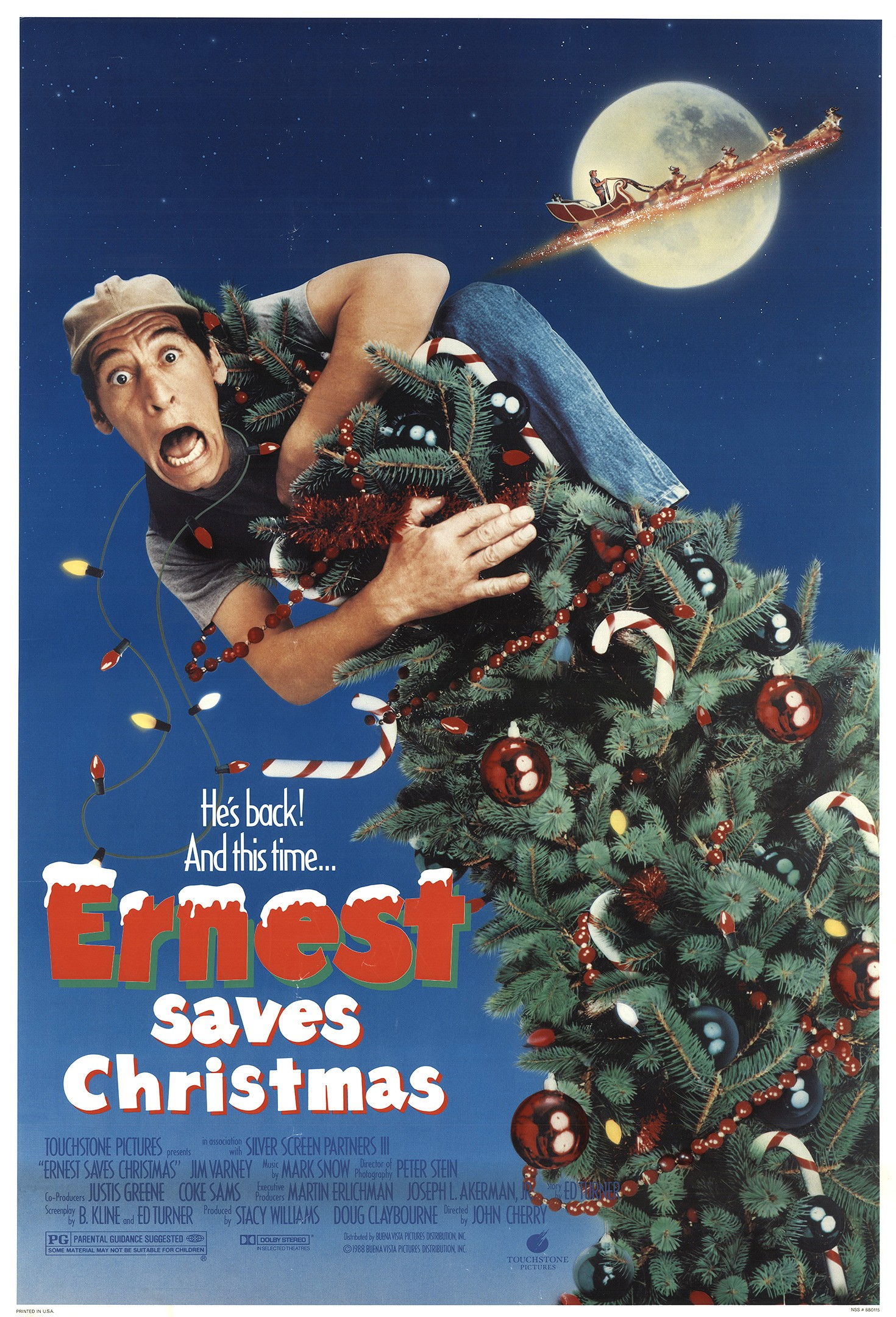 Affiche Poster ernest save christmas pere noel prison disney touchstone