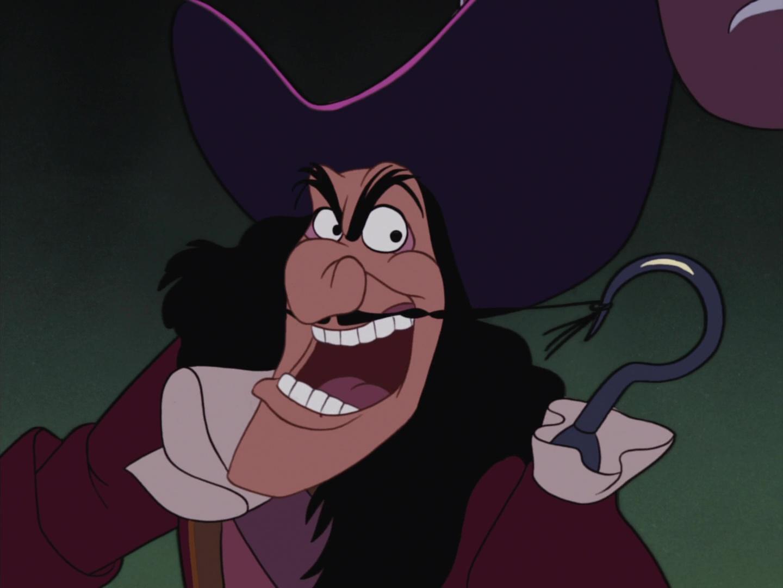 Capitaine crochet personnage dans peter pan disney - Peter pan et capitaine crochet ...