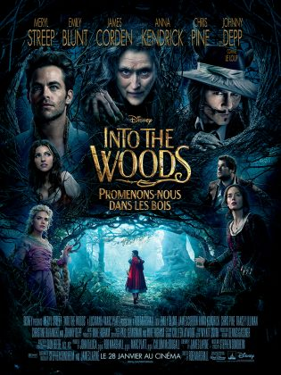 Walt Disney Pictures Into the woods affiche poster