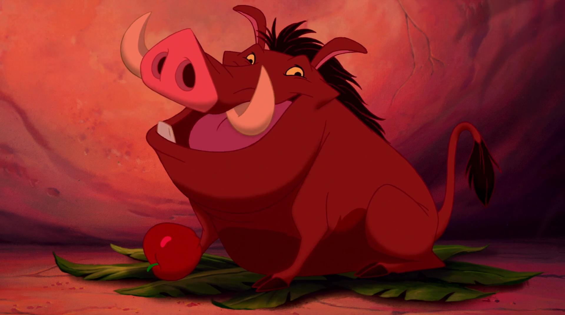 Pumbaa personnage dans le roi lion disney planet - Le roi lion les hyenes ...