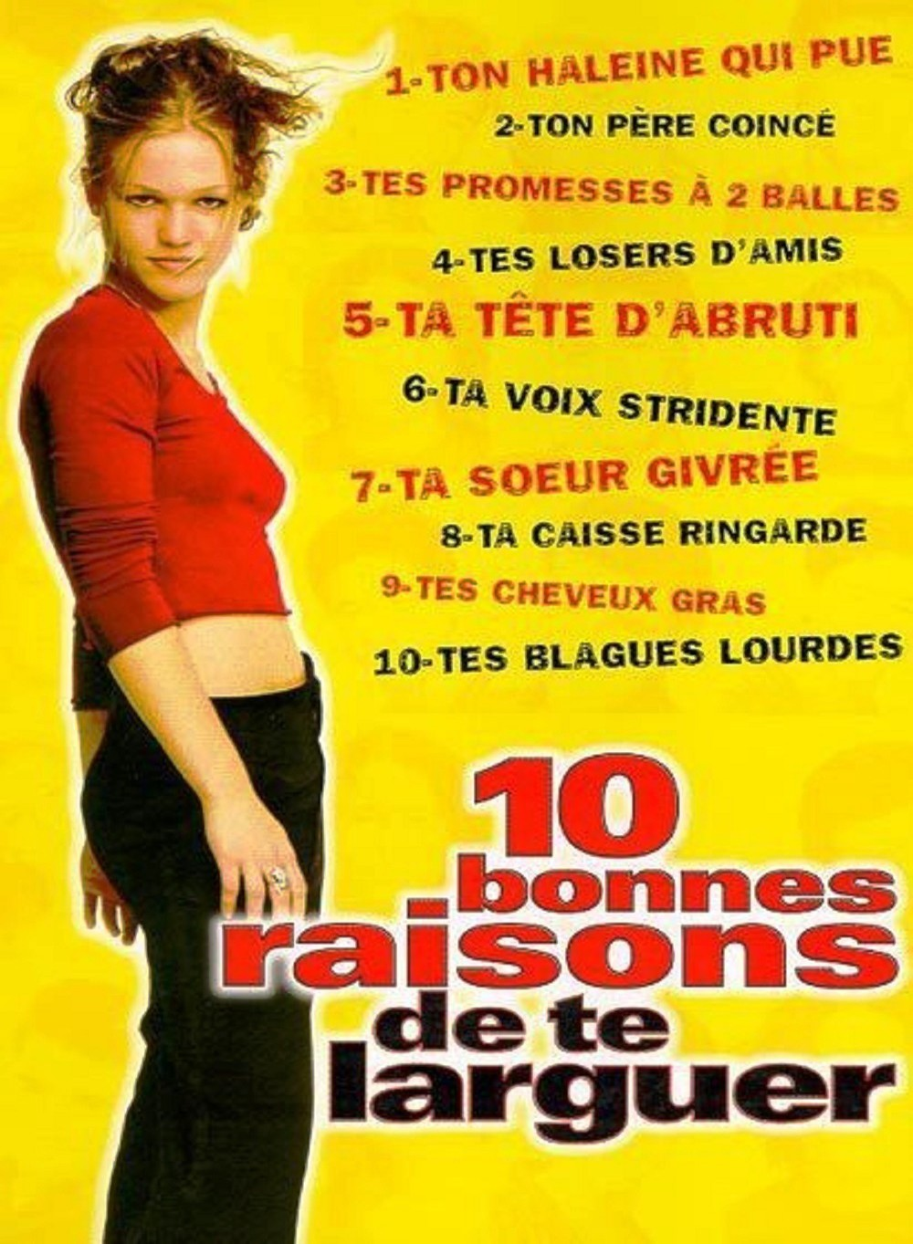 10 bonnes raisons de te larguer Disney touchstone affiche poster