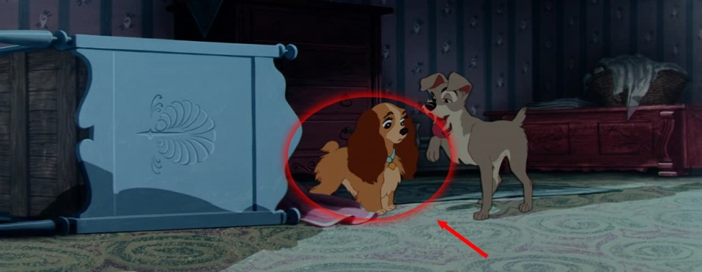Disney Illustration La Belle et Le Clochard Faux Raccords
