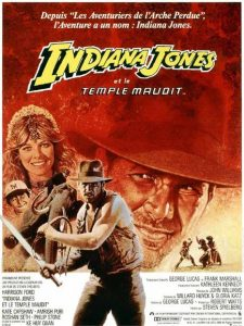 affiche indiana jones temple maudit film lucas film temple of doom movie