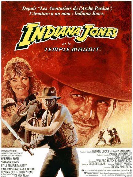 affiche indiana jones temple maudit film lucas film temple of doom movie