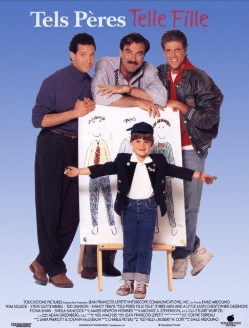 Affiche Poster tels pères telle fille three men little lady disney touchstone