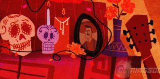Dia de los muertos artwork Pixar Disney