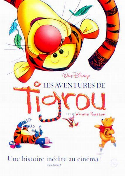 affiche poster aventures tigrou tiger movie disney