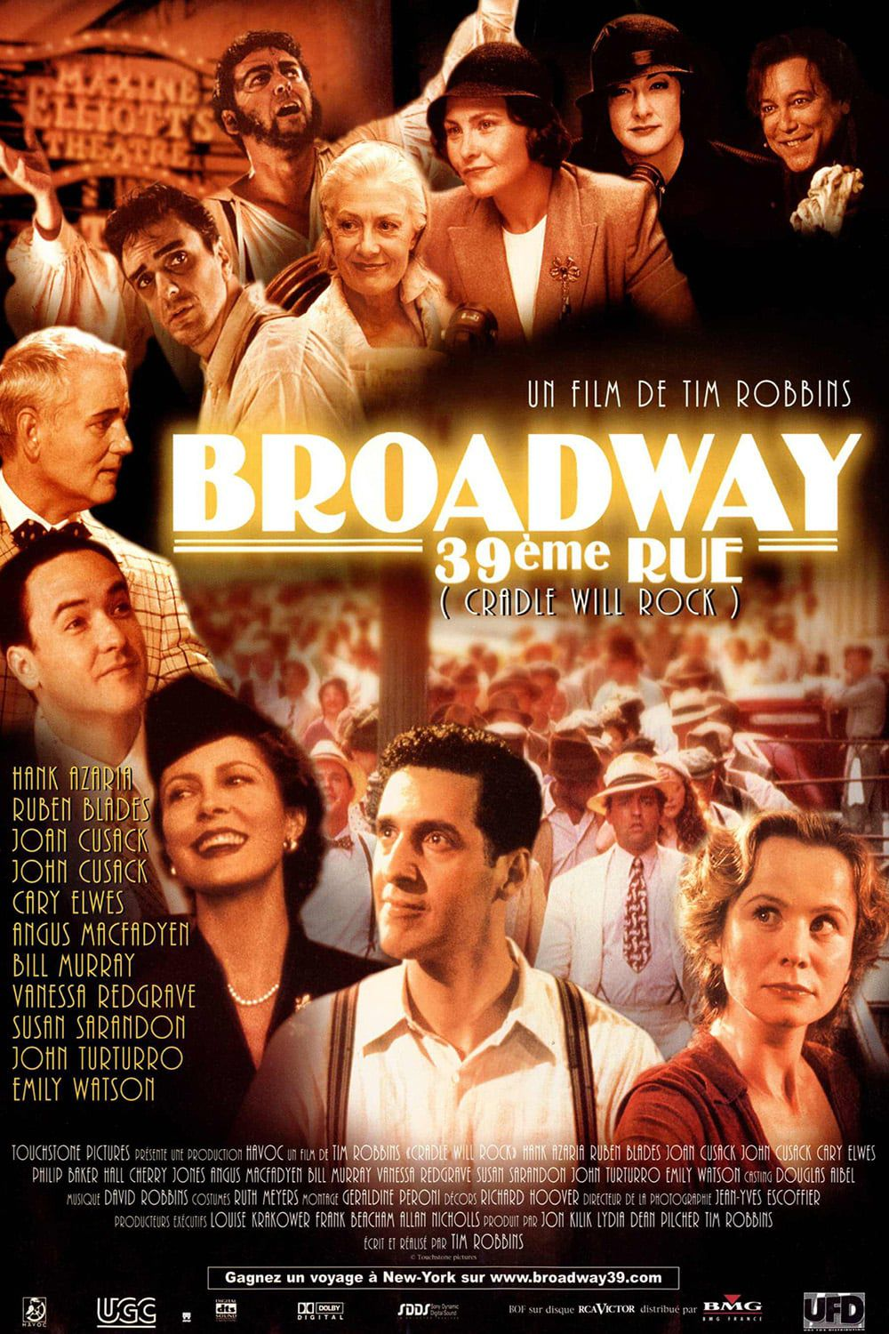 Affiche Poster broadway 39e rue cradle will rock disney touchstone
