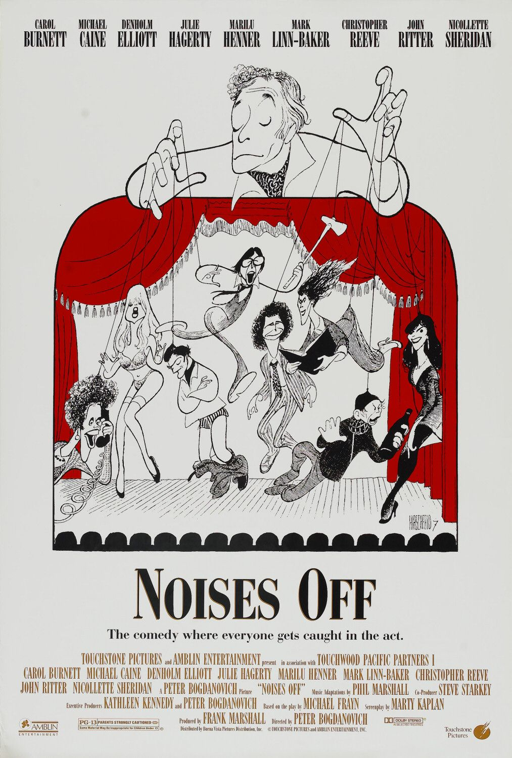 Affiche Poster bruits coulisses noises off disney touchstone