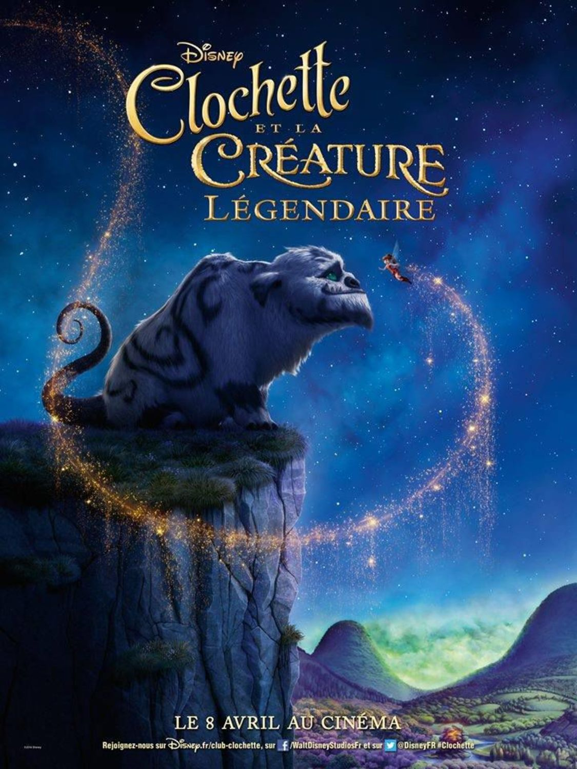 affiche poster clochette créature légendaire tinkerbell neverbeast legend disney