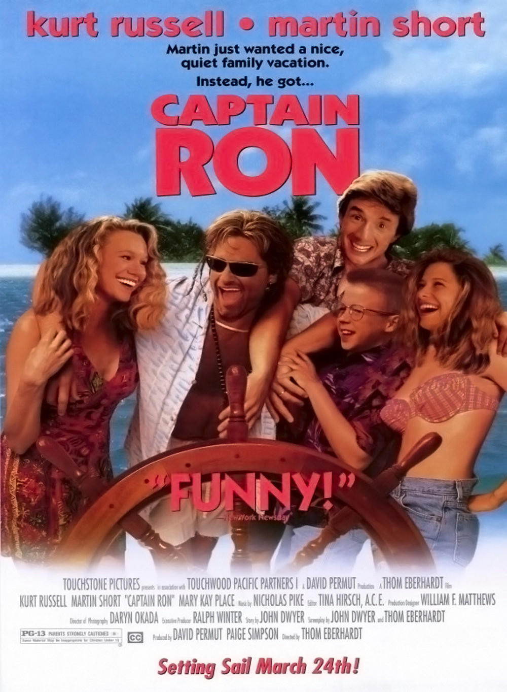 captain ron affiche disney poster touchstone pictures