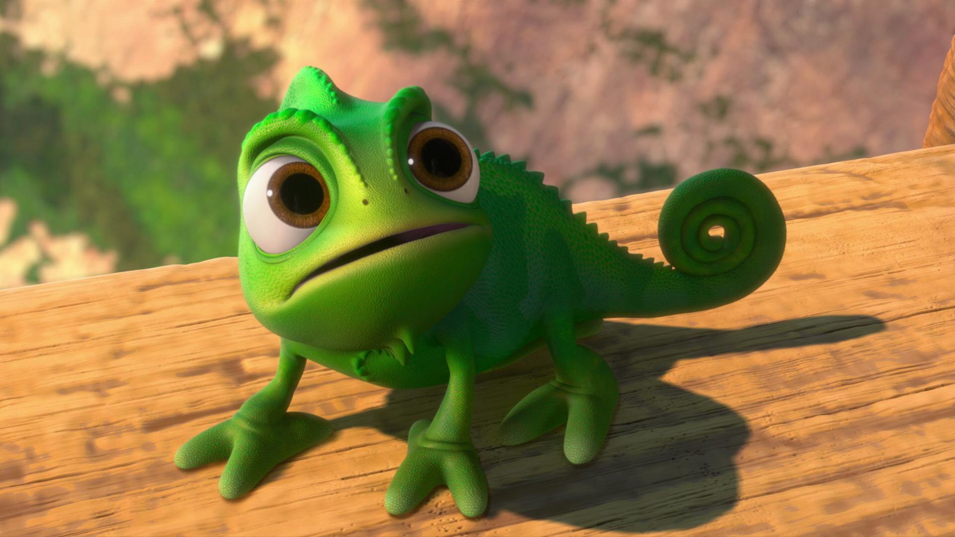 Pascal personnage dans raiponce disney planet - Raiponce cameleon ...