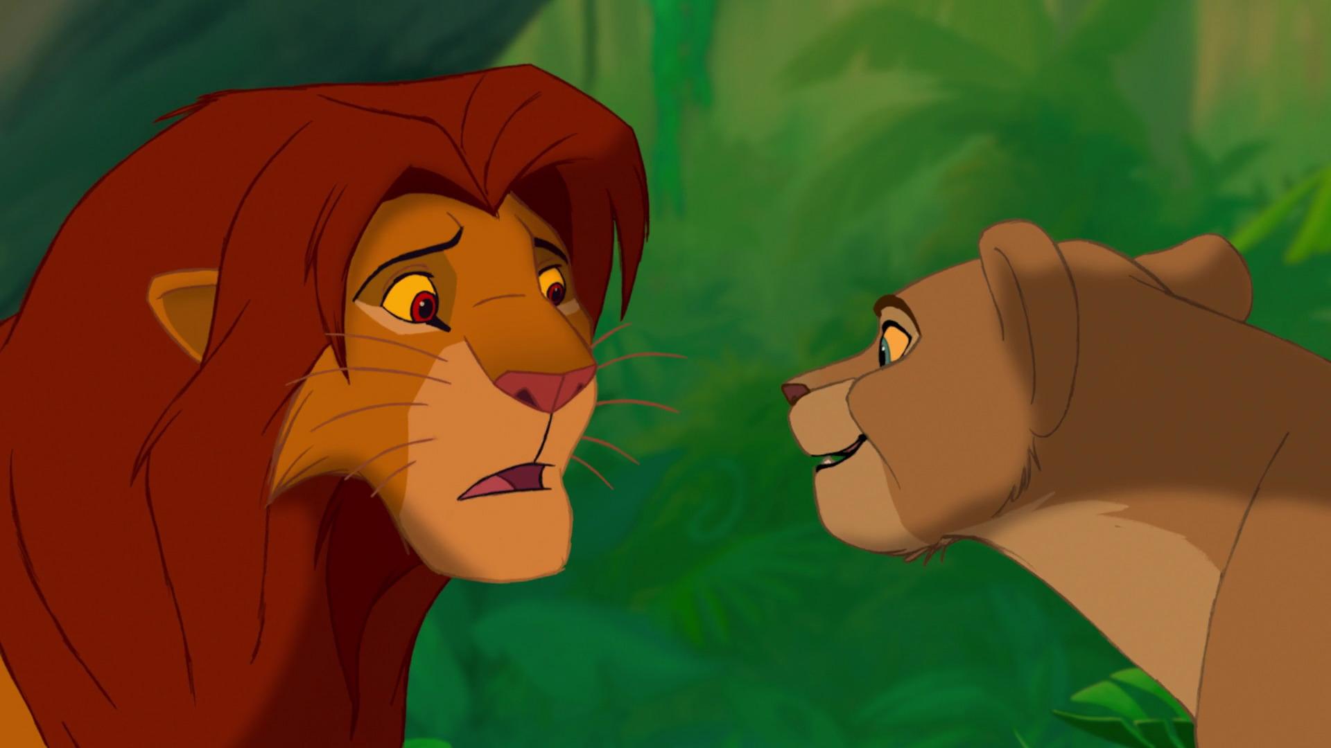 le roi lion elle essaye de me bouffer