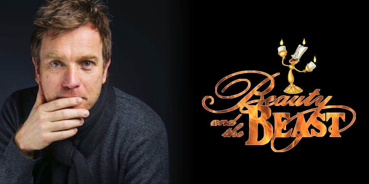 illustration la belle et la bête ewan mcgregor disney