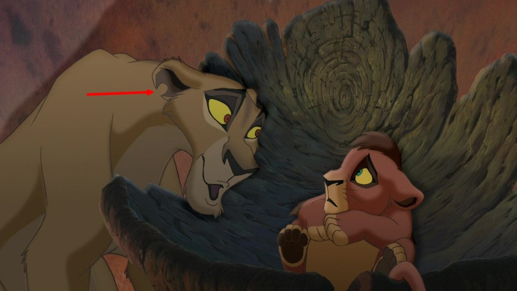 Illustration Faux Raccord Le Roi Lion 2 Disney
