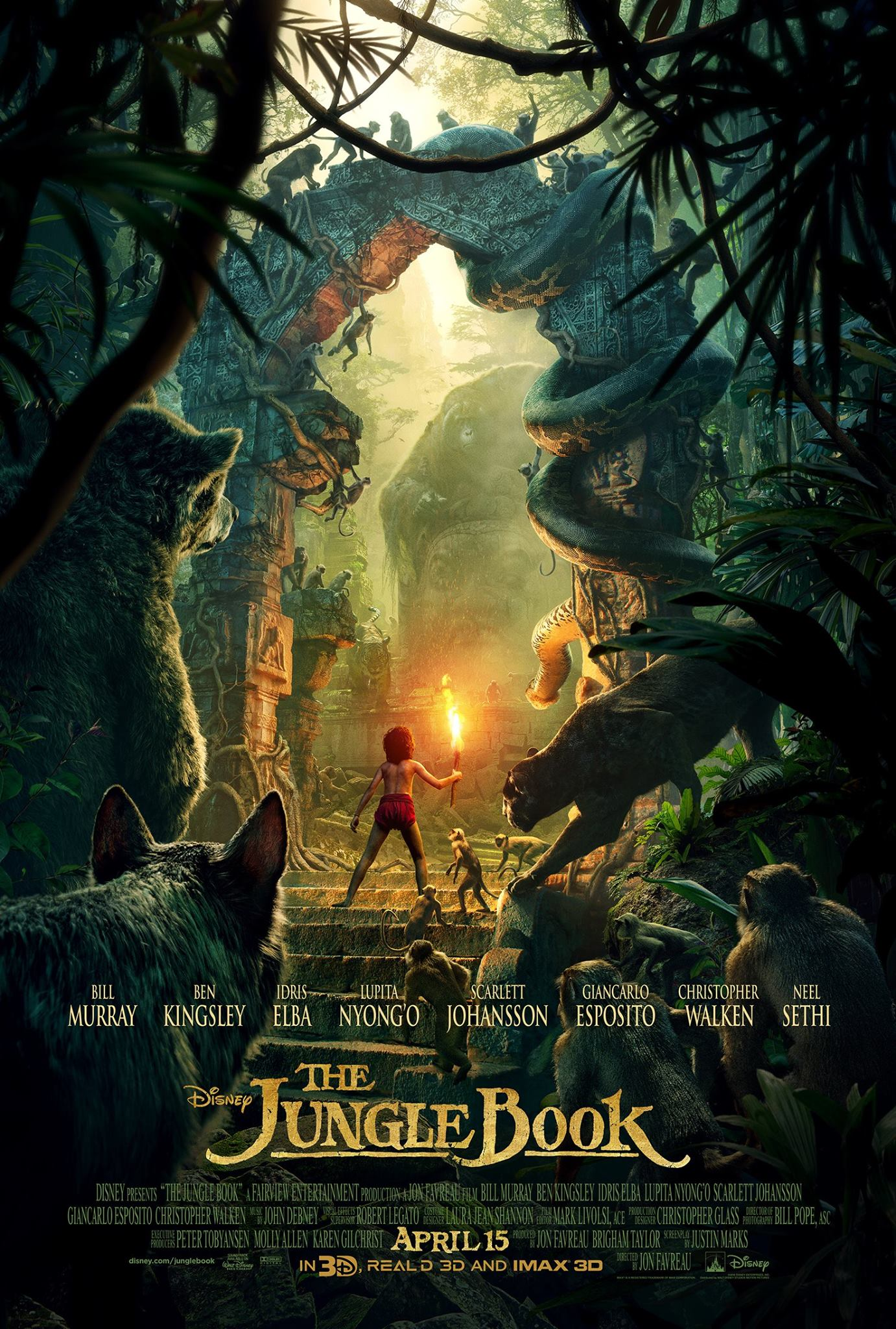 walt disney pictures le livre de la jungle book film affiche poster