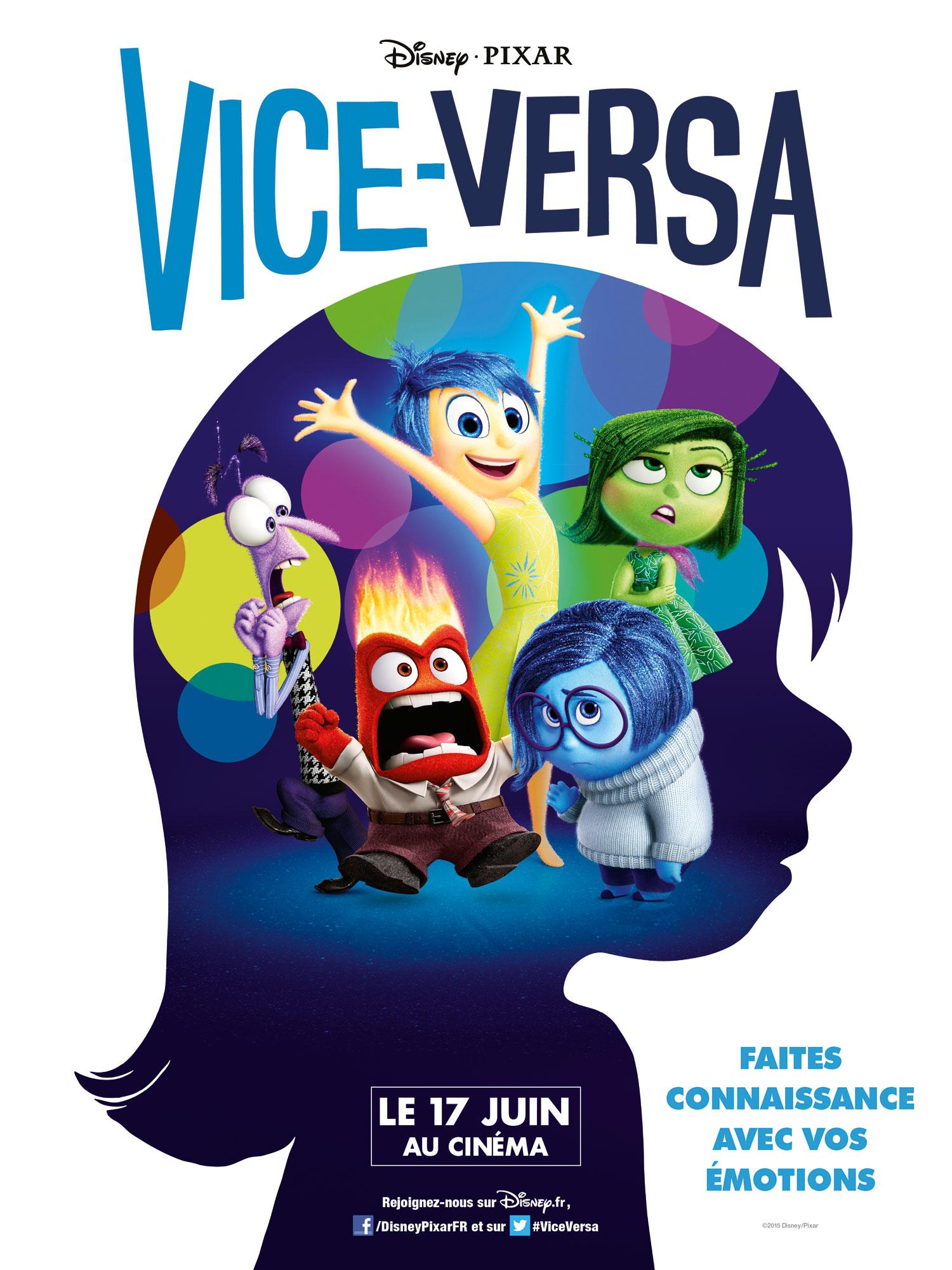 vice-versa affiche poster inside out pixar disney
