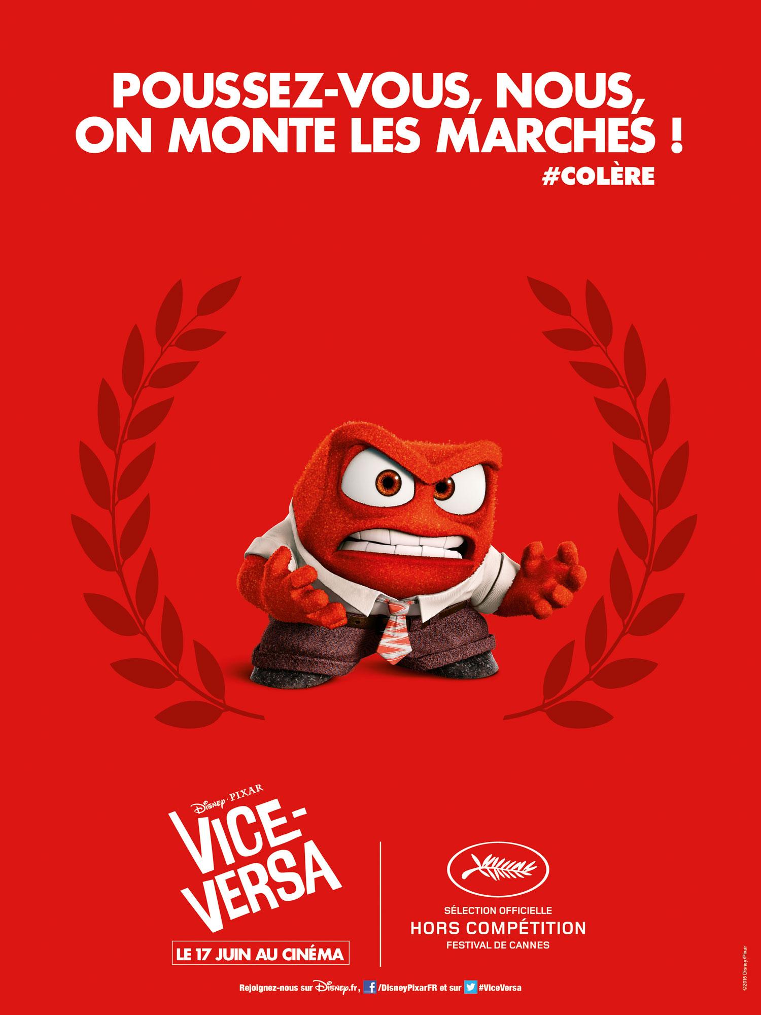 Vice Versa Inside Out Disney Pixar affiche poster festival cannes