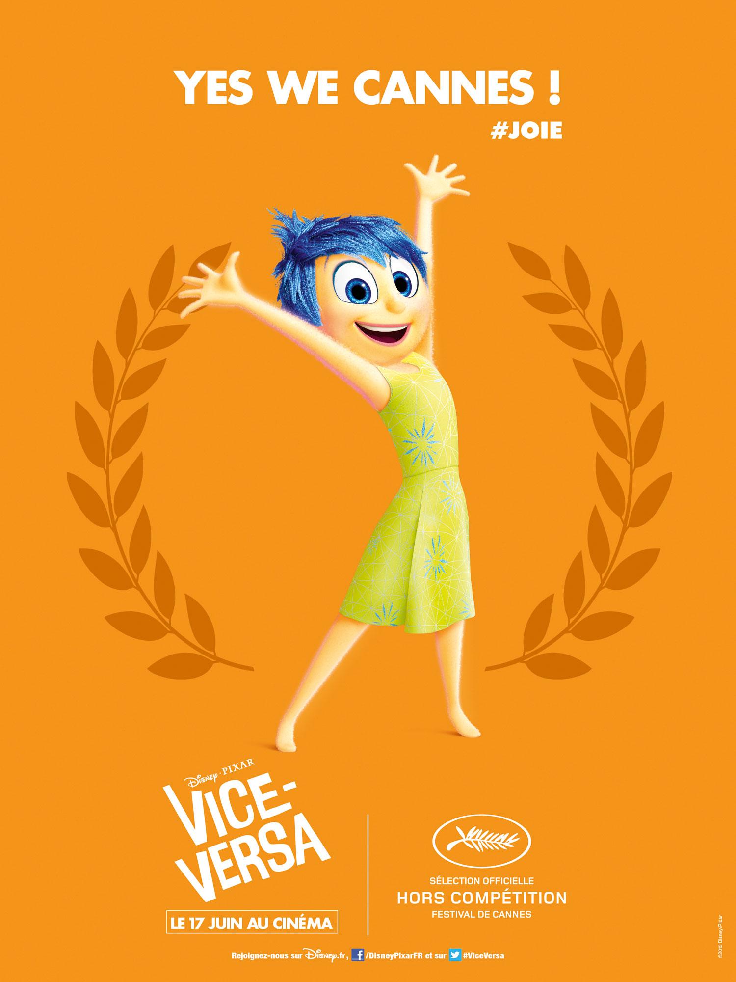 Vice Versa Inside Out Disney Pixar affiche poster festival cannesVice Versa Inside Out Disney Pixar affiche poster festival cannes