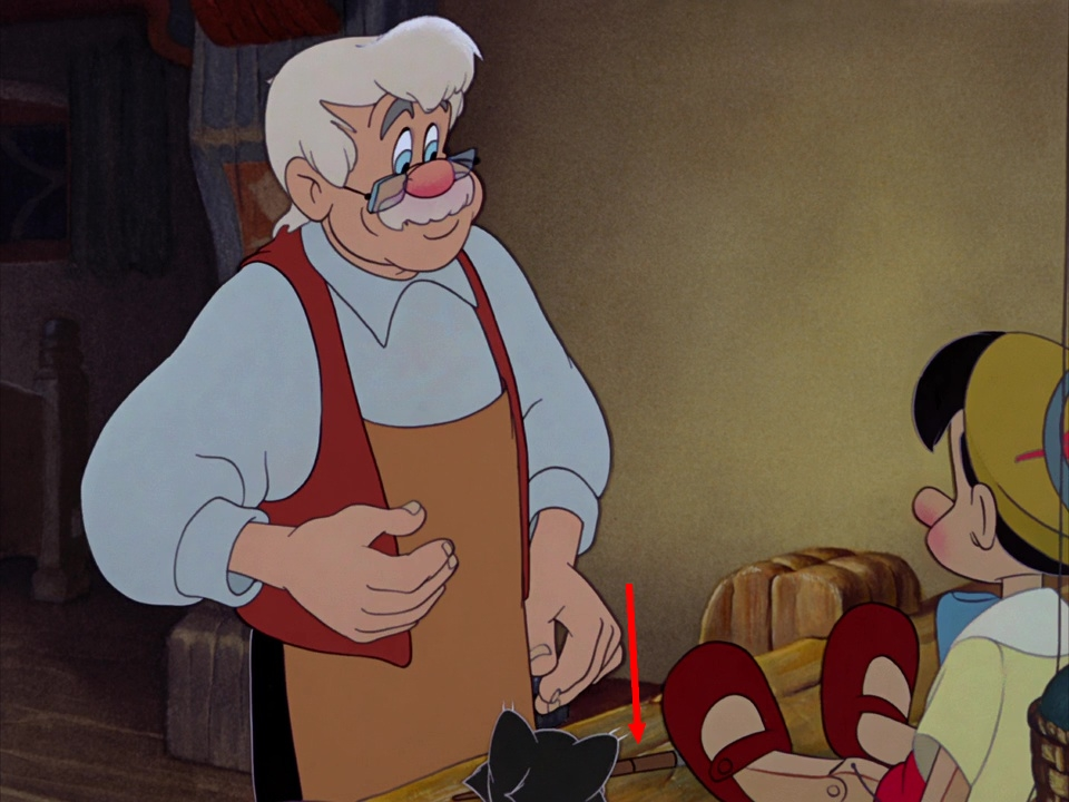 Illustration Faux Raccords Pinocchio Disney
