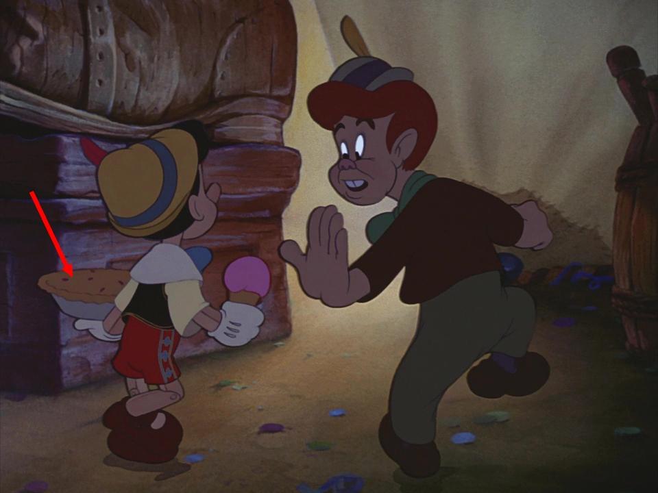 Illustration Faux Raccords Pinocchio Disney