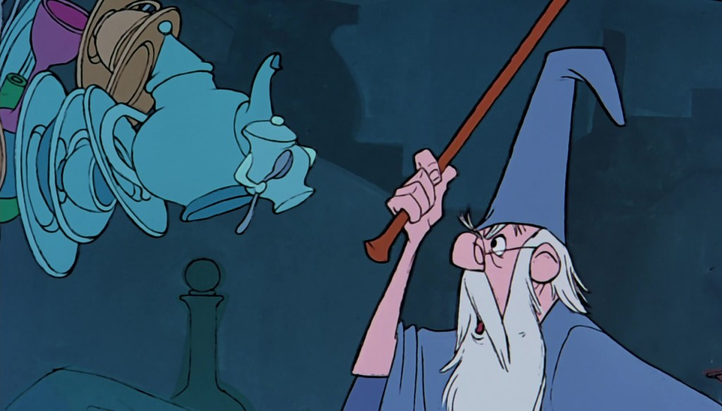 illustration faux raccords merlin l'enchanteur disney
