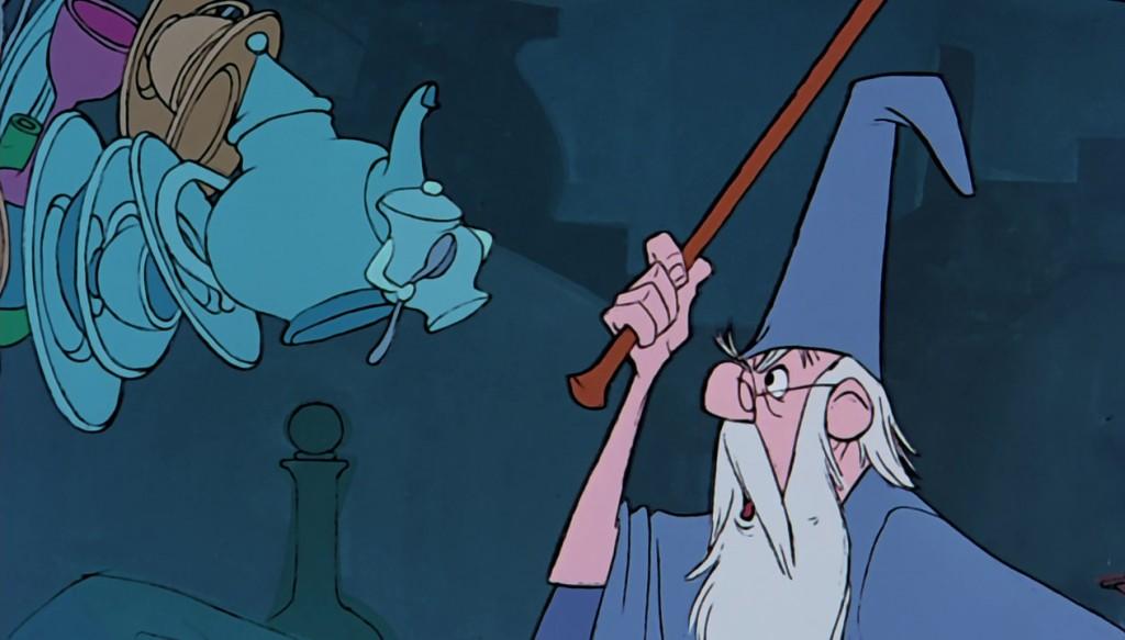illustration faux raccords merlin l'enchanteur disney