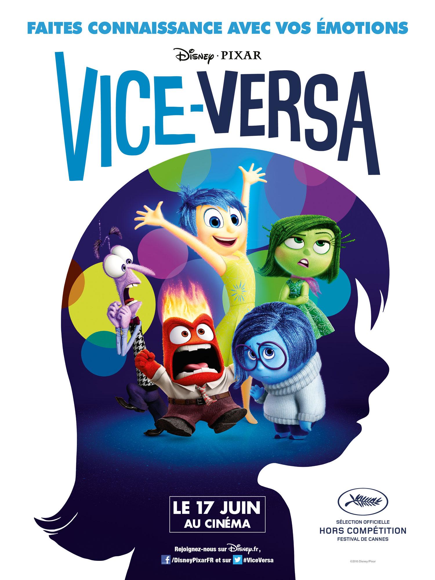 pixar disney affiche poster vice versa inside outpixar disney affiche poster vice versa inside out