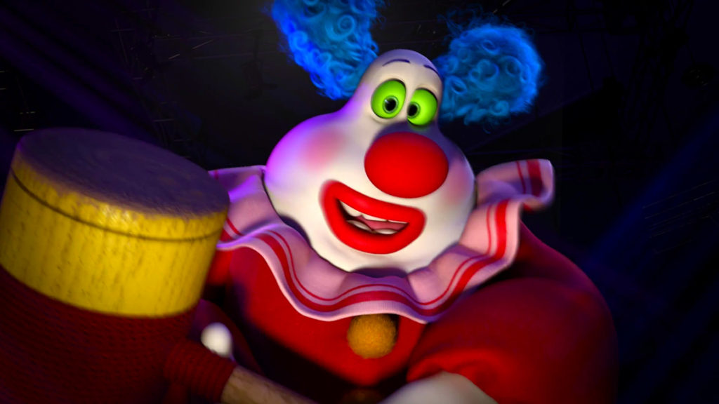 django clown jangles pixar disney character vice-versa inside out