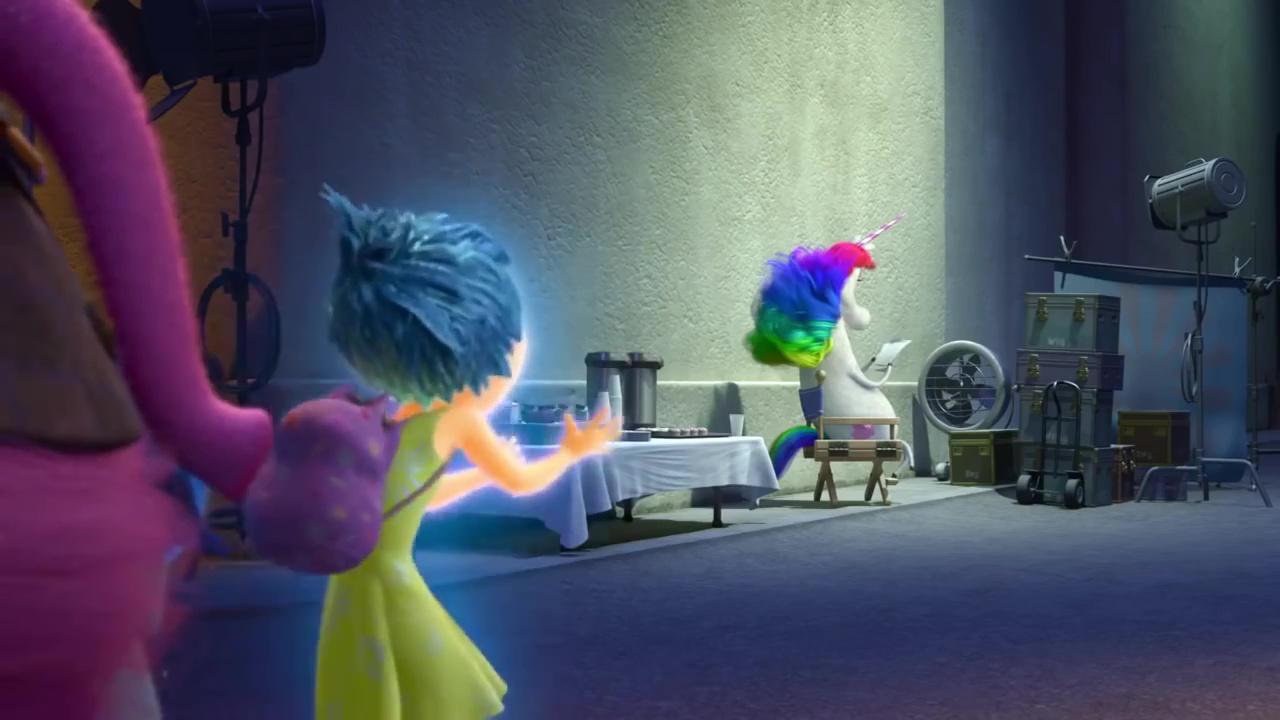 licorne arc en ciel unicorn rainbow personnage character  vice versa inside out