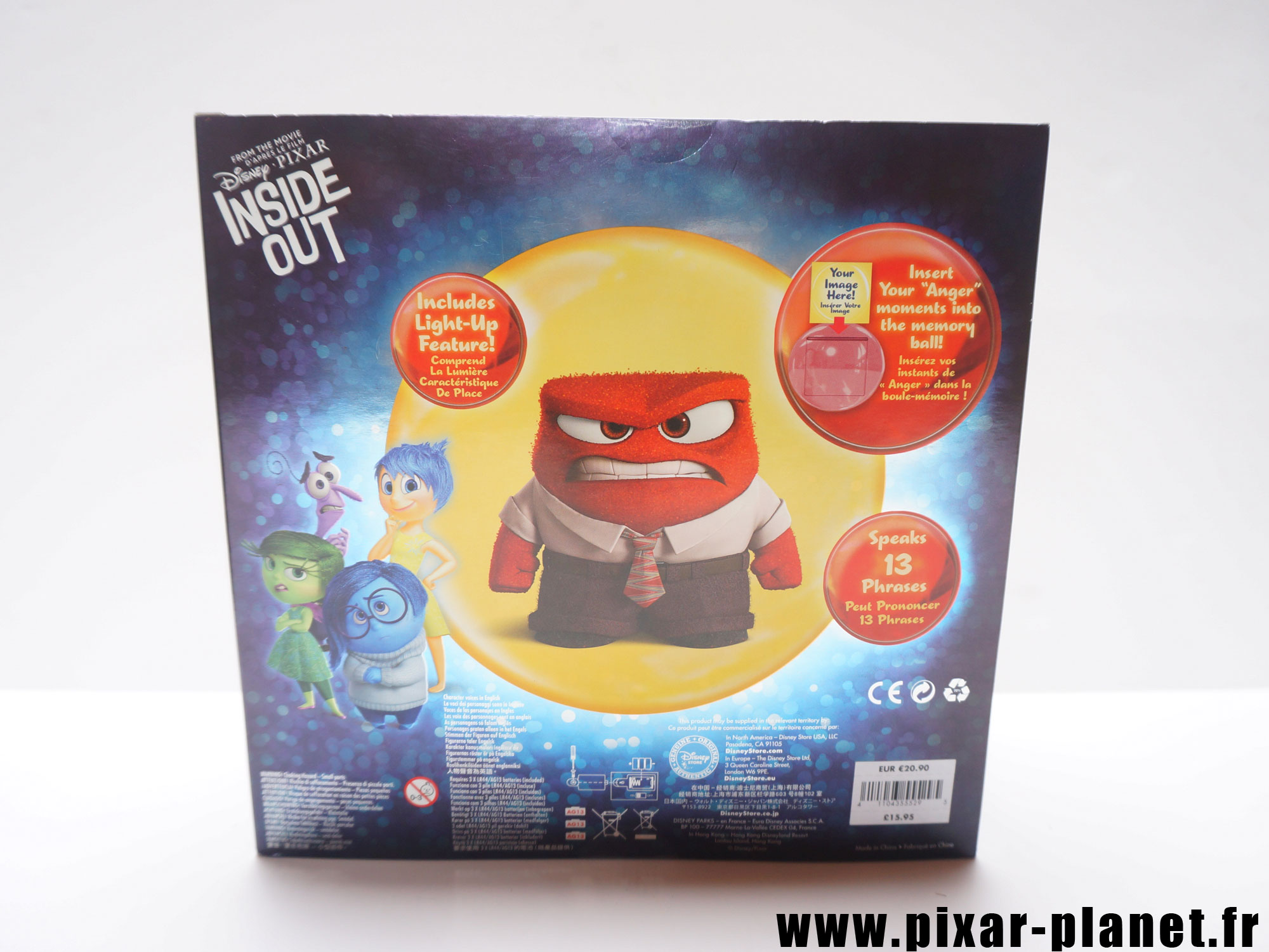 Pixar disney poupée toy vice versa inside out colère anger