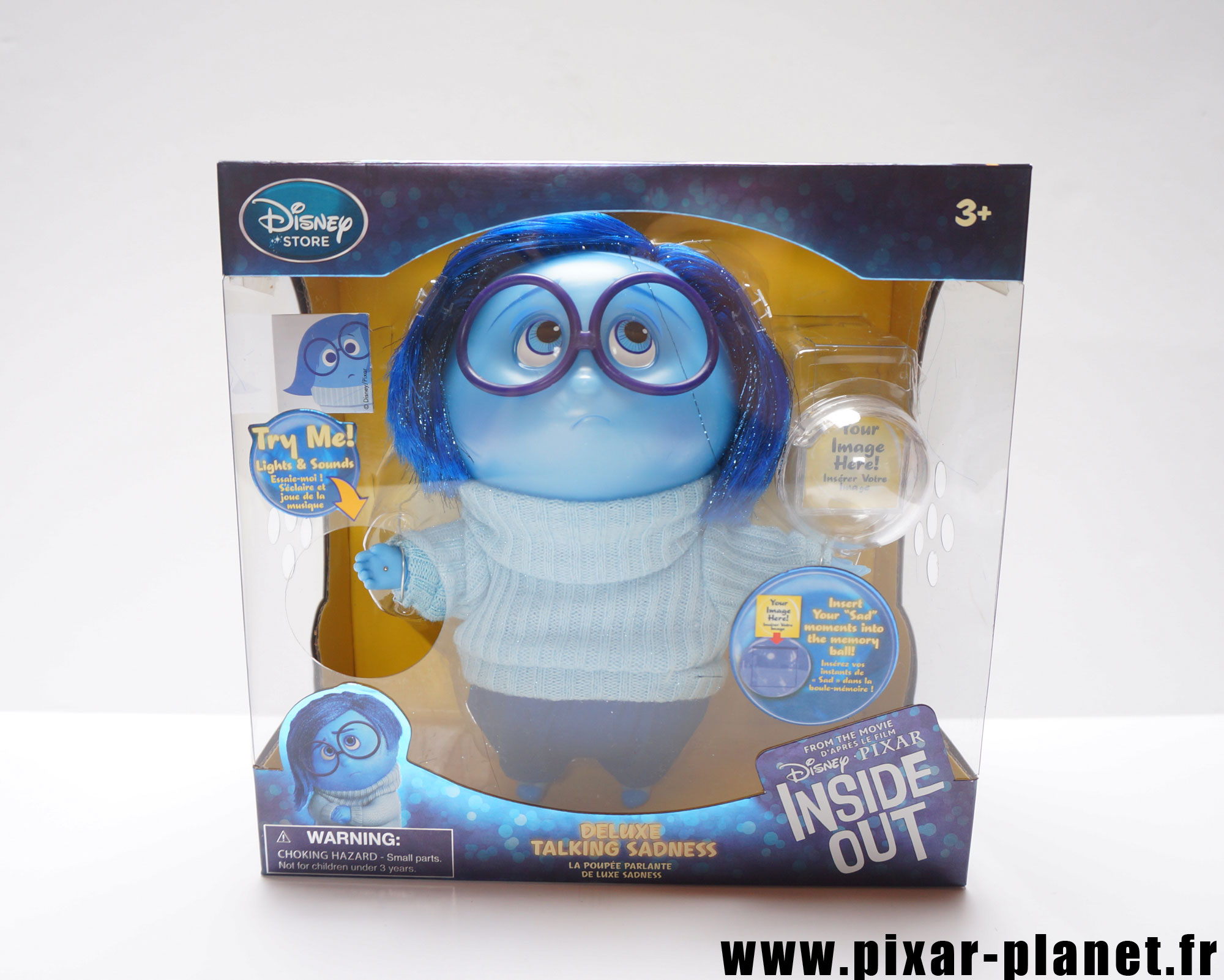 Pixar disney poupée toy vice versa inside out tristesse sadness