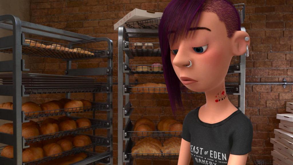 serveuse waitress pixar disney character vice-versa inside out