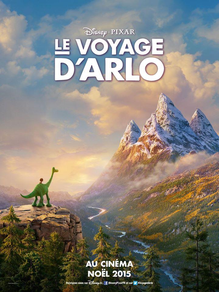 pixar disney affiche le voyage d'arlo poster the good dinosaur