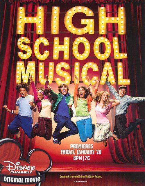 affiche poster high school musical premiers pas scene disney channel