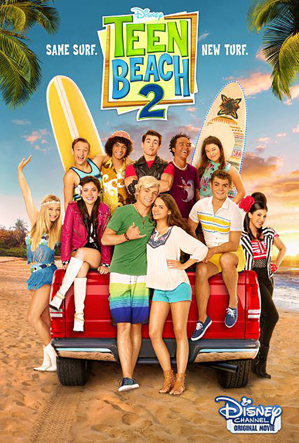affiche poster teen beach movie 2 disney channel