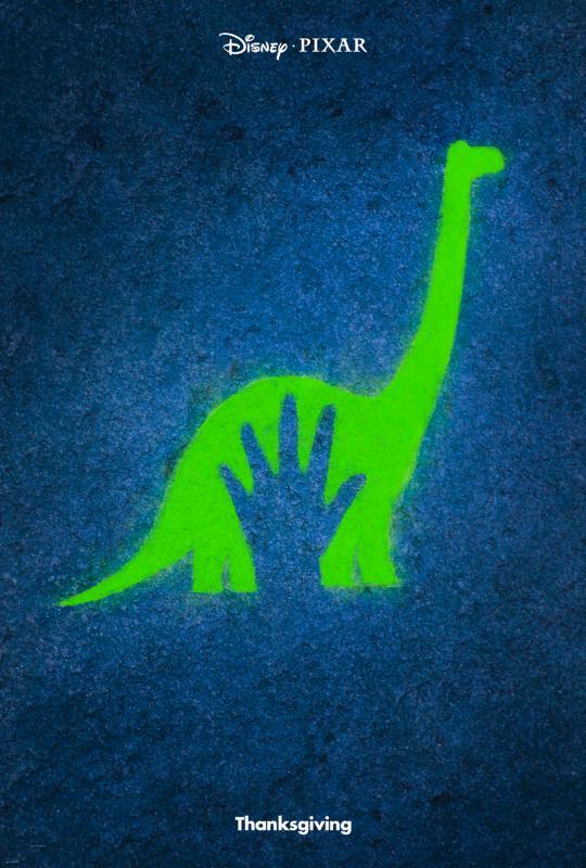 pixar disney affiche poster le voyage d'arlo the good dinosaur