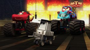 pixar disney personnage character cars toon martin poids lourd monster truck mater arbitre referee pitty