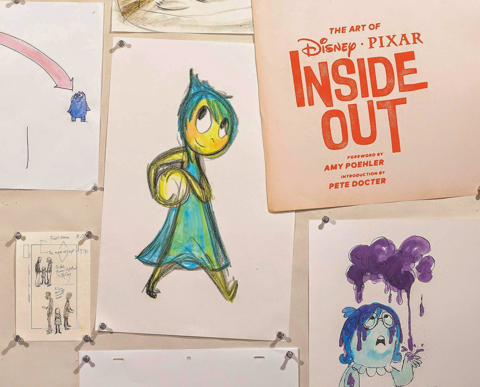 pixar disney livre book the art of inside out vice versa artwork concept art