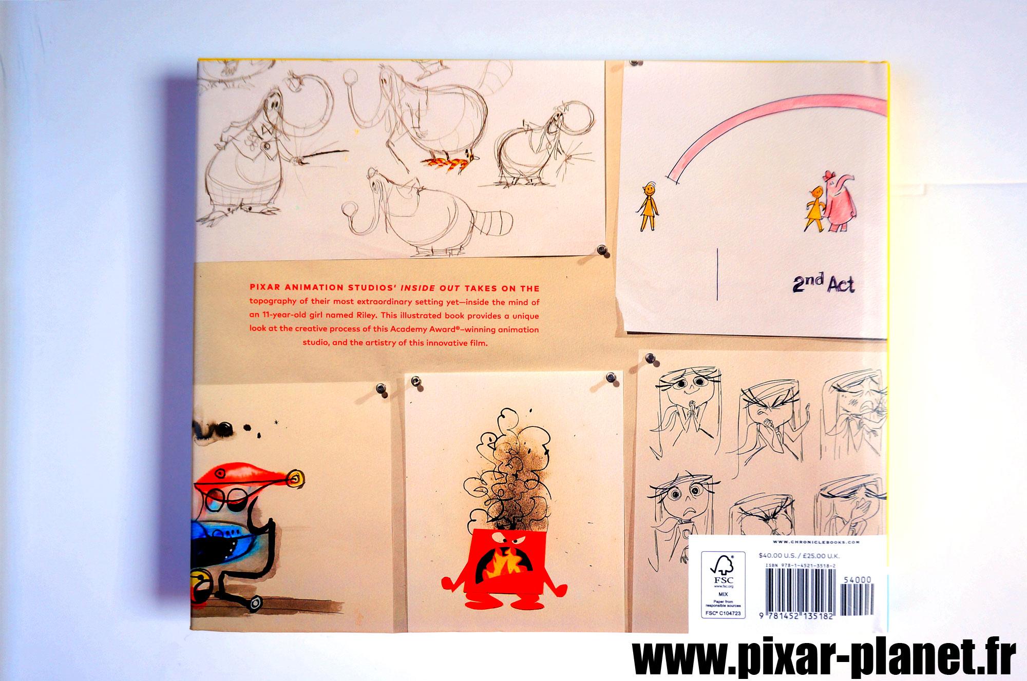 pixar disney livre book the art of inside out vice versa artwork concept art