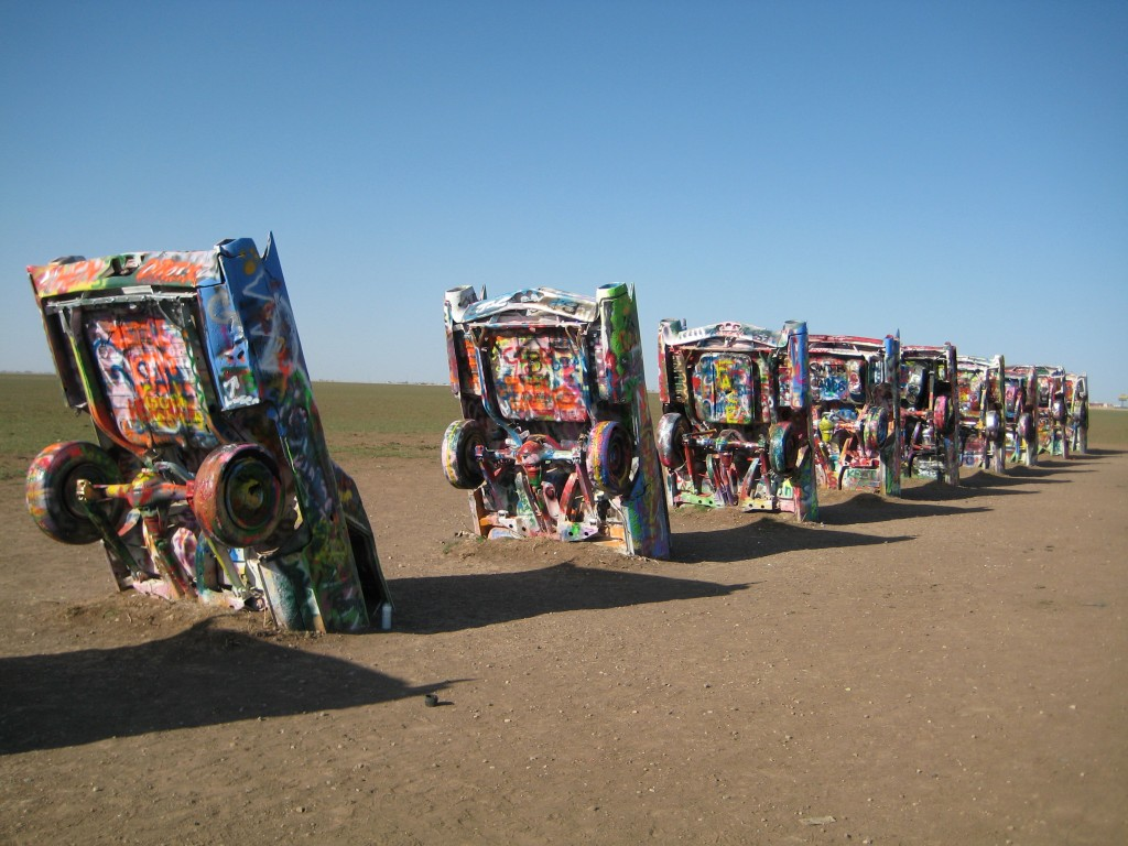 pixar disney cars carisation cadillac ranch
