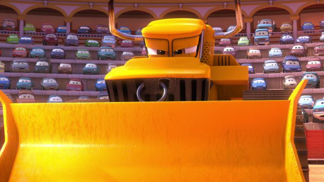 chuy bulldozer personnage character cars toon disney pixar