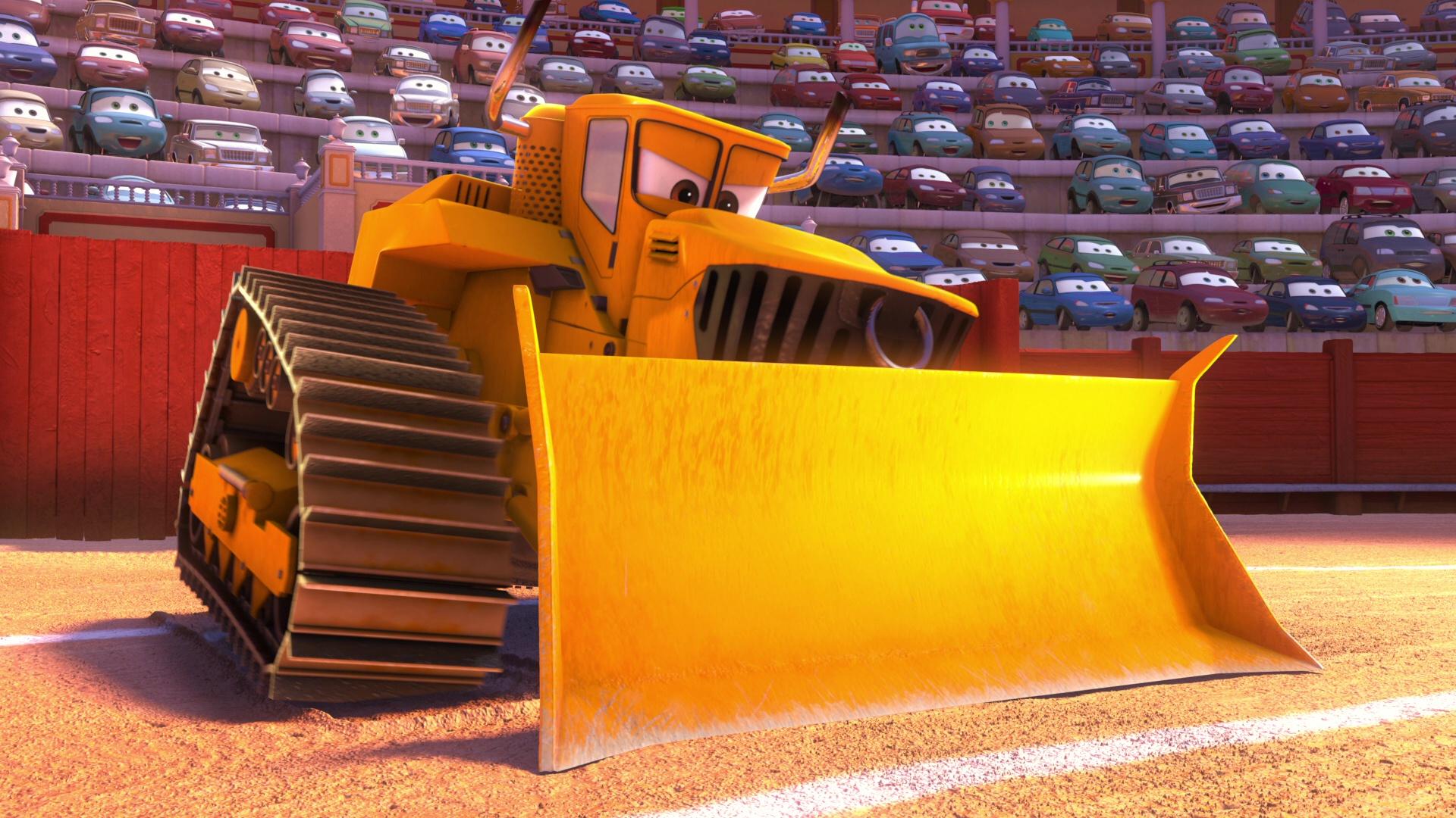 pixar disney personnage character chuy bulldozer cars toon el martindor materdor