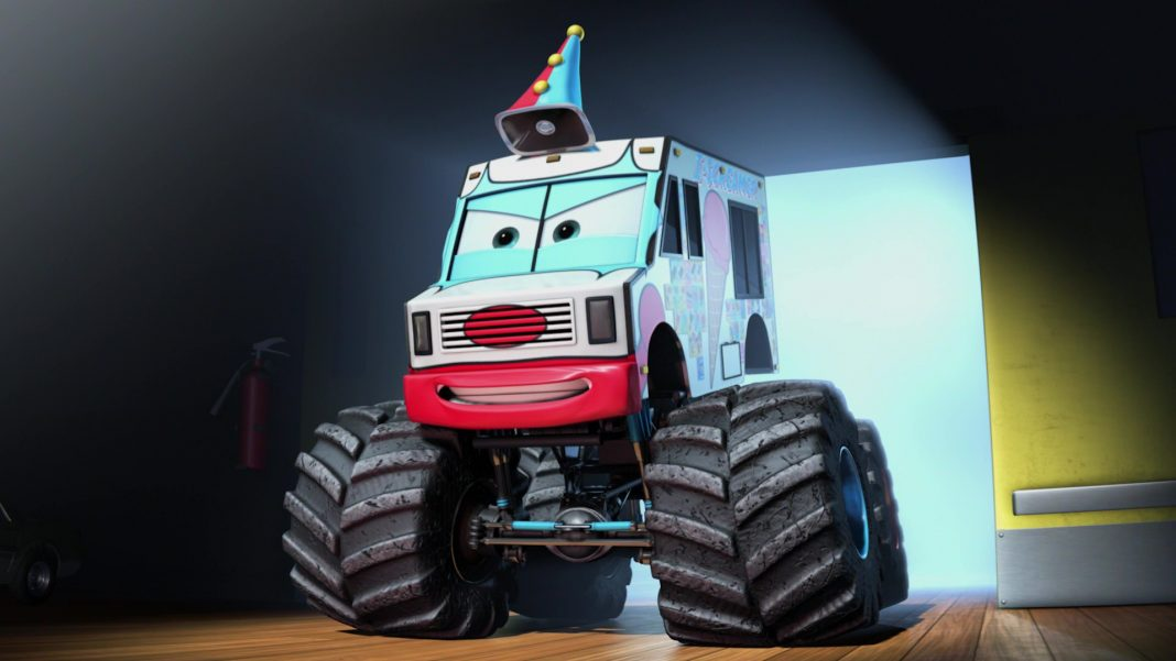 pixar disney personnage character cars toon martin poids lourd monster truck mater congélateur i-screamer