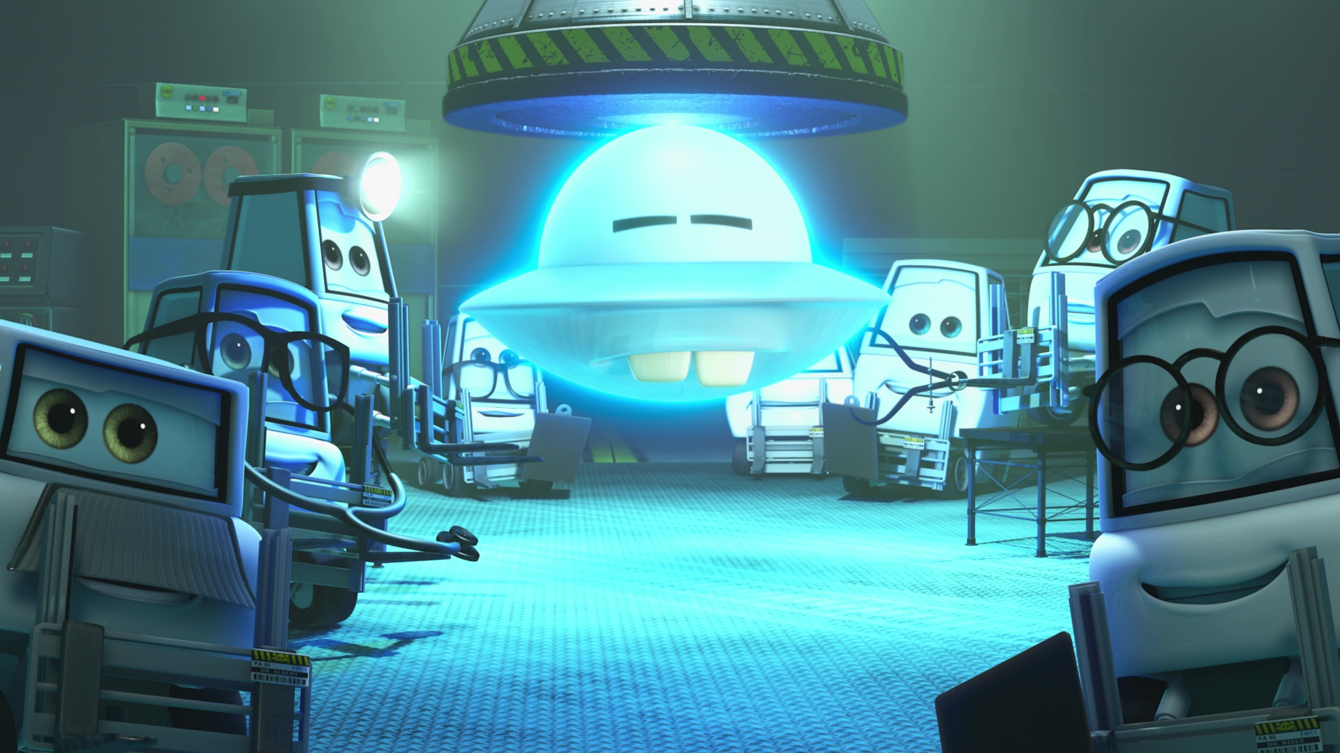 pixar disney personnage character cars toon martin volant non identifié Unidentified Flying Mater docteur doctor niels