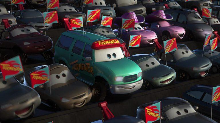 """Fan du Trépaneur, personnage dans """"Cars Toon : Martin Poids Lourd""""."""