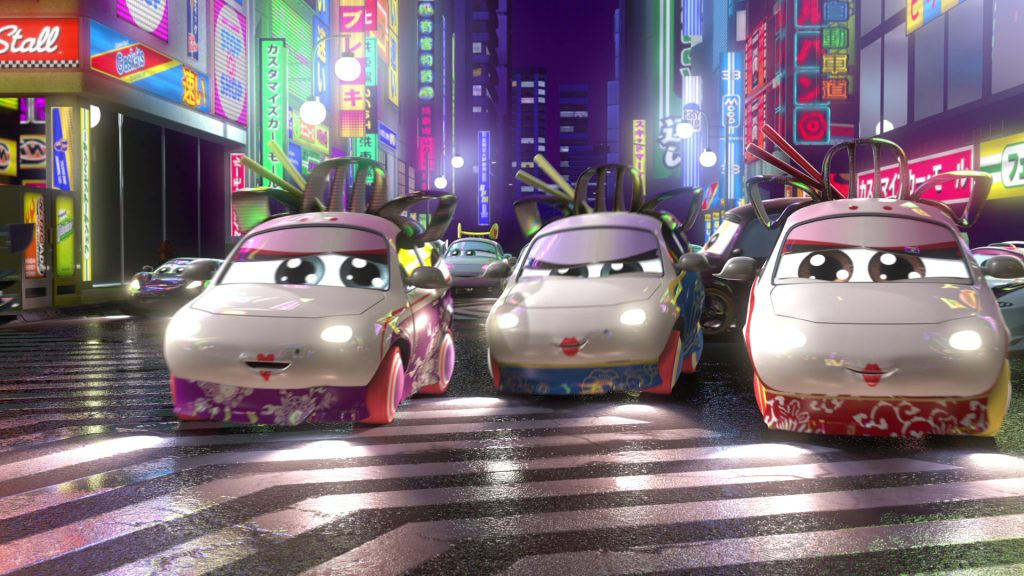 """Geishas, Personnages Dans """"Cars Toon : Tokyo Martin"""