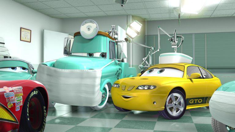 """Infirmière GTO, personnage dans """"Cars Toon : Martin à la rescousse""""."""