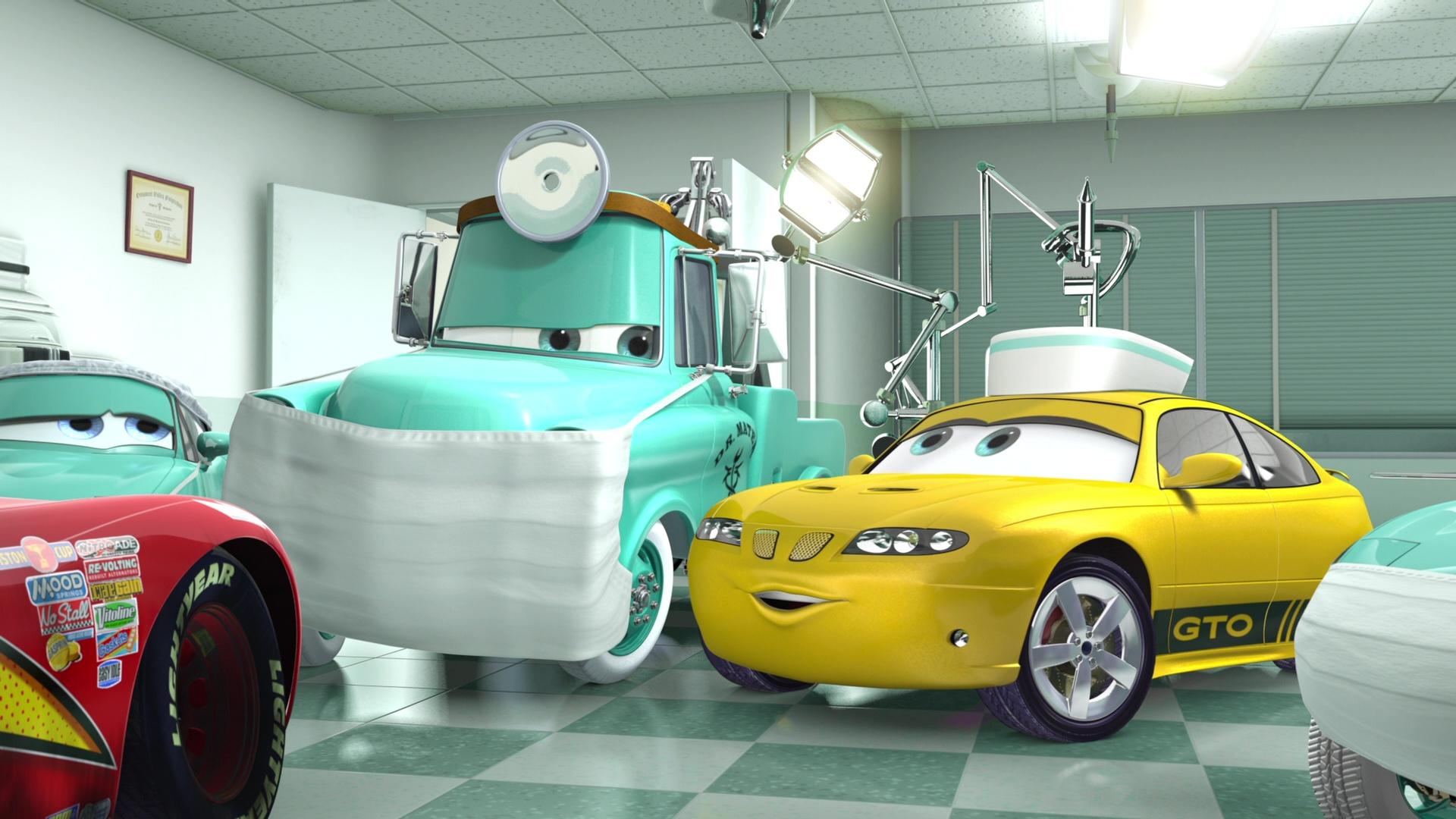 pixar disney personnage character  cars toon martin à la rescousse rescue squad mater infirmière nurse gto